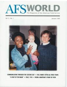 AFS World magazine cover, January 1995