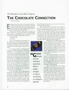 AFS World magazine, January 1995, page 18,  Omanhene company article