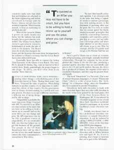 AFS World magazine, January 1995, page 20, Omanhene company article