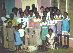 Me with the Brobbey family. I'm center right, last row ...